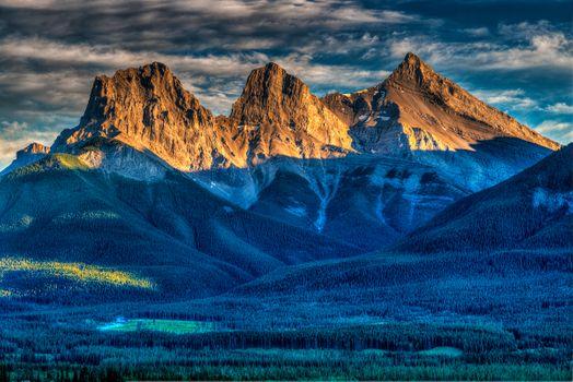 Бесплатные фото Canmore,Alberta,Canada,горы,небо,облака,лес,озеро,деревья,пейзаж