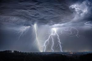 Фото бесплатно пейзаж, небо, молния
