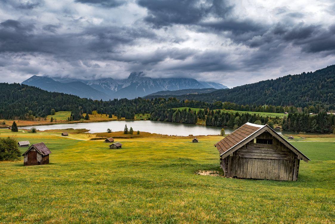 Фото бесплатно Бавария, сельская местность, озеро - на рабочий стол