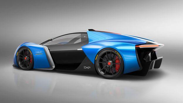 Фото бесплатно Tesla, электро-автомобили, сини-черный