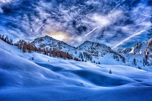 Заставки холмы, зима, Штирия