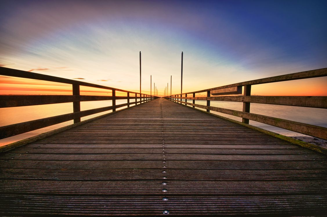 Фото бесплатно перспектива, пейзаж, мост - на рабочий стол