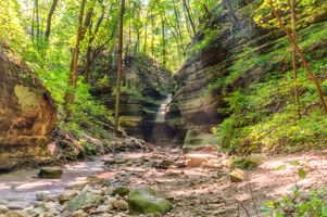 Заставки Matthiessen State Park, лес, скалы