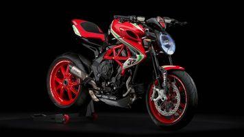 Фото бесплатно MV Agusta Dragster 800 RC, красный, мотоцикл