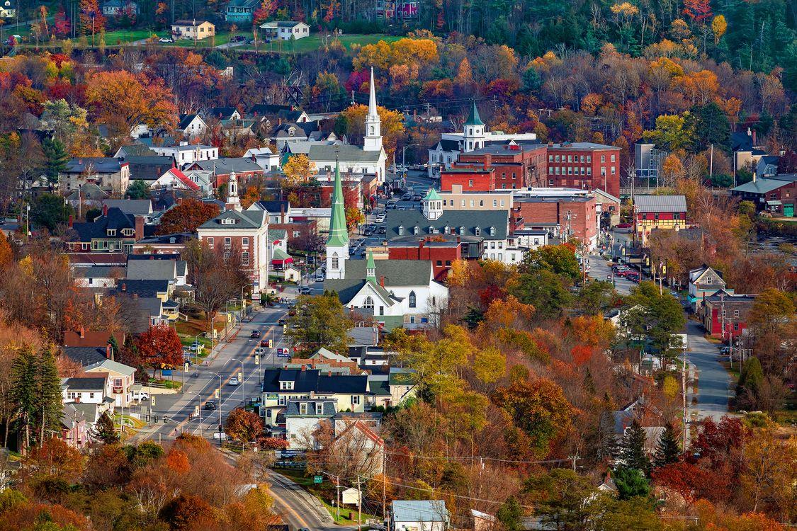 Фото бесплатно Нью-Гемпшир, Новая Англия, Main Street, Литтлтон, город