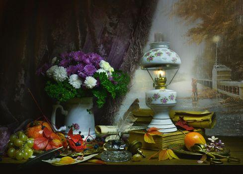 Photo free vase, autumn, fruit