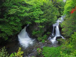 Фото бесплатно Япония, водопад, речка