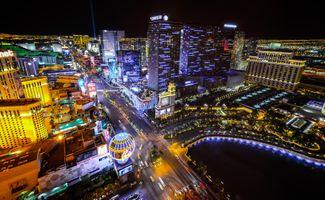 Заставки Nevada, освещение, ночной город