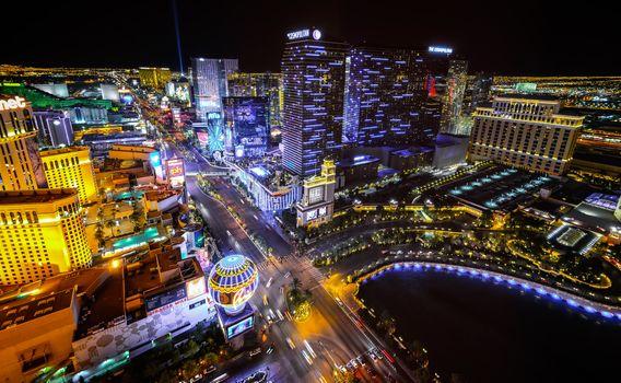 Фото бесплатно Nevada, освещение, ночной город