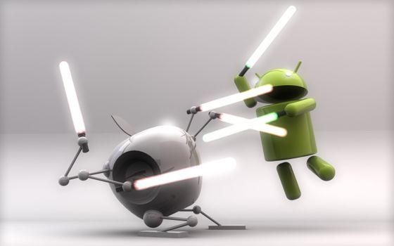 Photo free android vs apple, battle, robots