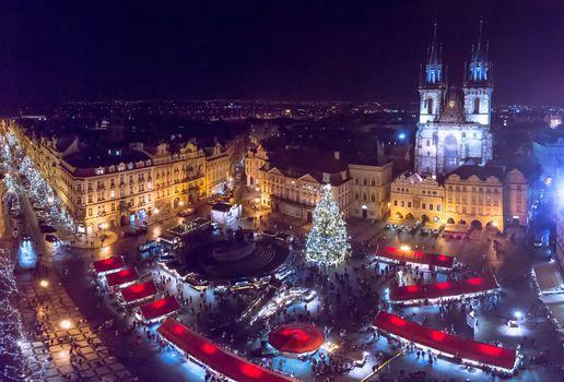 Заставки Прага, ночные города, ночь