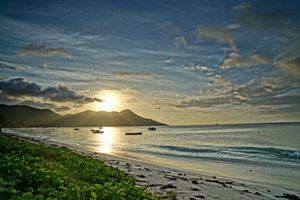 Заставки Сейшелы, Сейшельские Острова закат, море