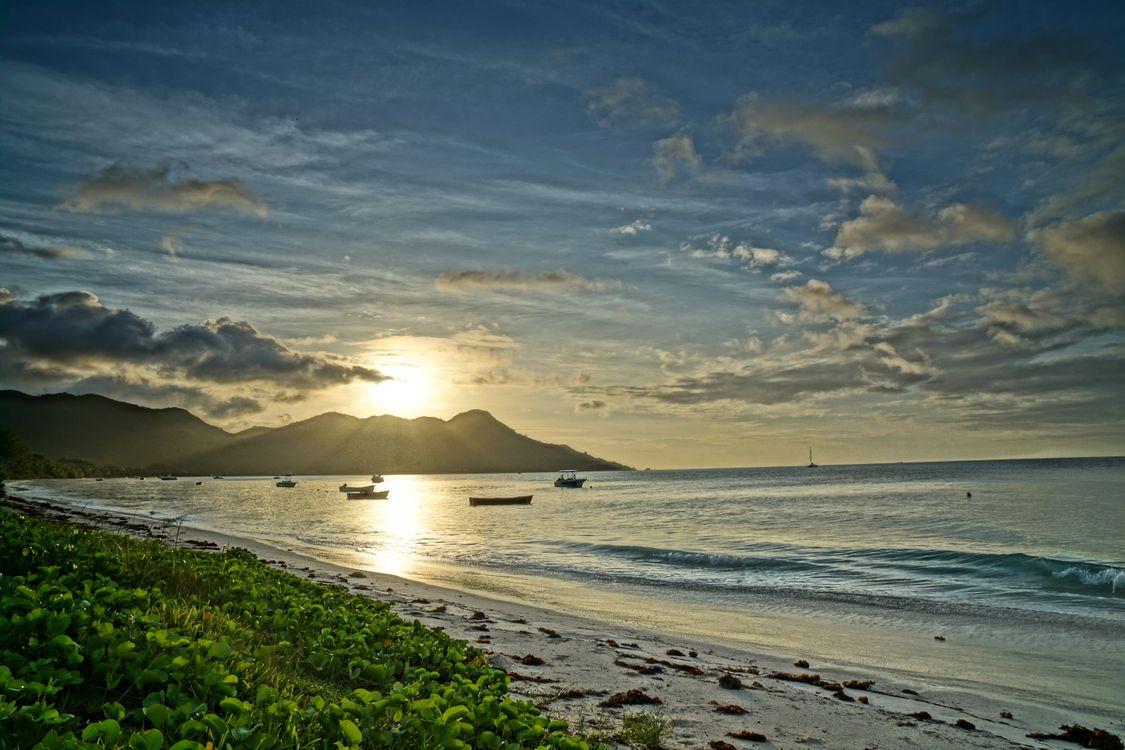 Free photo Seychelles, Seychelles sunset, sea - to desktop
