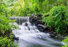 Фото бесплатно водопад, река, течение