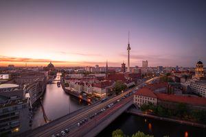 Фото бесплатно berlin, река, мост