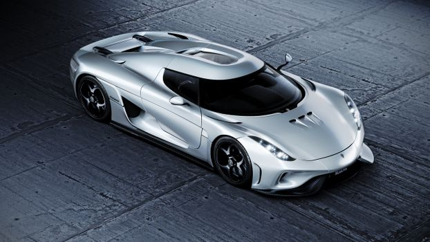 Заставки Koenigsegg regera, суперкары, серебро