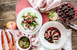 Фото бесплатно пирог, салат, мясо
