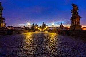 Заставки огни, мост, ночной город