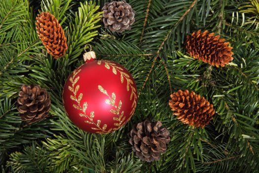 Фото бесплатно Новогоднее украшение, фон, элементы