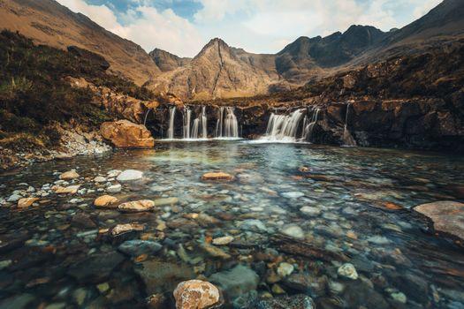 Photo free Scotland, the fairy pools, waterfall