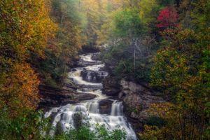 Фото бесплатно водопад Калласая, Кулласайское ущелье, Северная Каролина