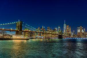 Заставки Brooklyn Bridge Бруклинский мост, Нью-Йорк, город