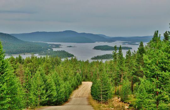 Заставки Inari Lake, Finland, Lapland