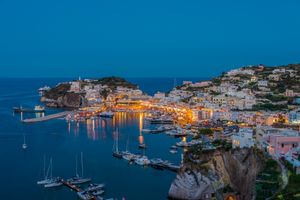 Бесплатные фото Isola di Ponza,Italia,Остров Понца,Италия,город,сумерки