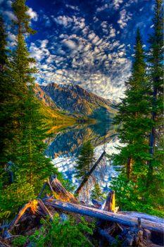 Фото бесплатно закат, Гранд тетон Национальный парк, отражение