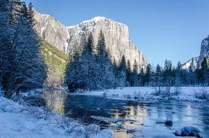 Photo free landscape, mountains, river