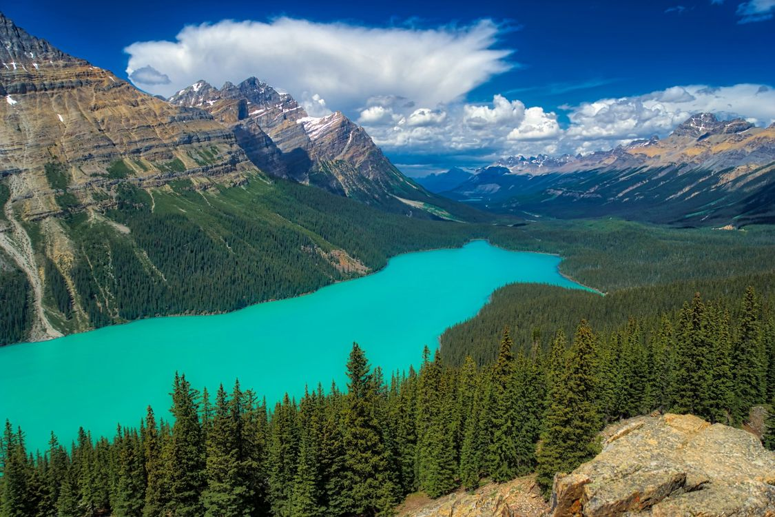 Photos for free landscape, Banff National Park, Alberta - to the desktop