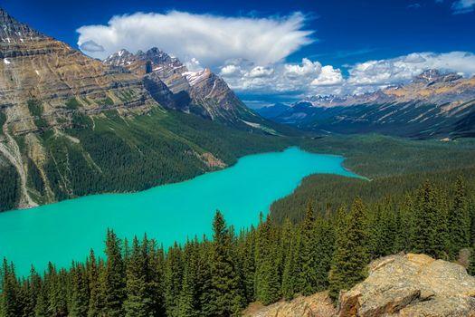 Photo free clouds, Canada, Peyto Lake