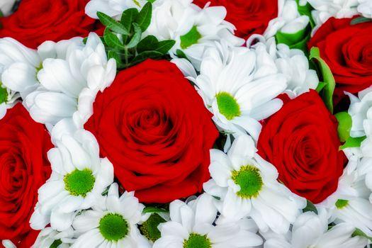 Photo free floral background, macro, floral arrangement