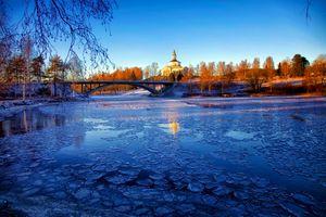 Фото бесплатно Швеция, деревья, лед