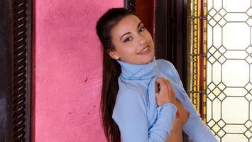 Заставки Lorena B, улыбка, брюнетка