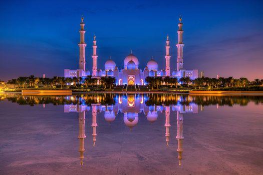 Заставки Объединенные Арабские Эмираты, мечеть шейха Заида, Абу-Даби