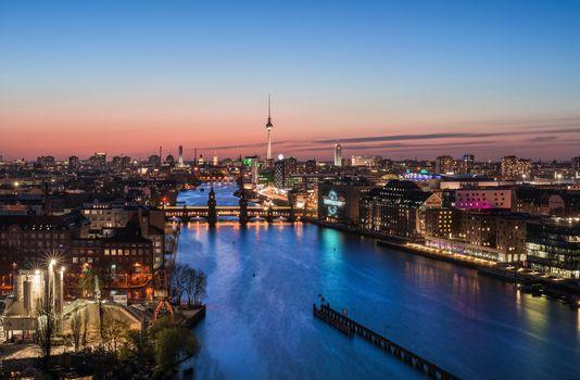 Photo free illumination, night, Germany