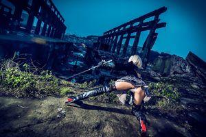Девушка самурай · бесплатное фото