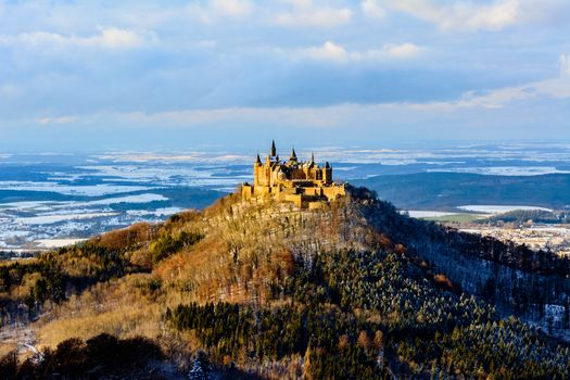 Photo free an old castle, Hohenzollern castle, Germany