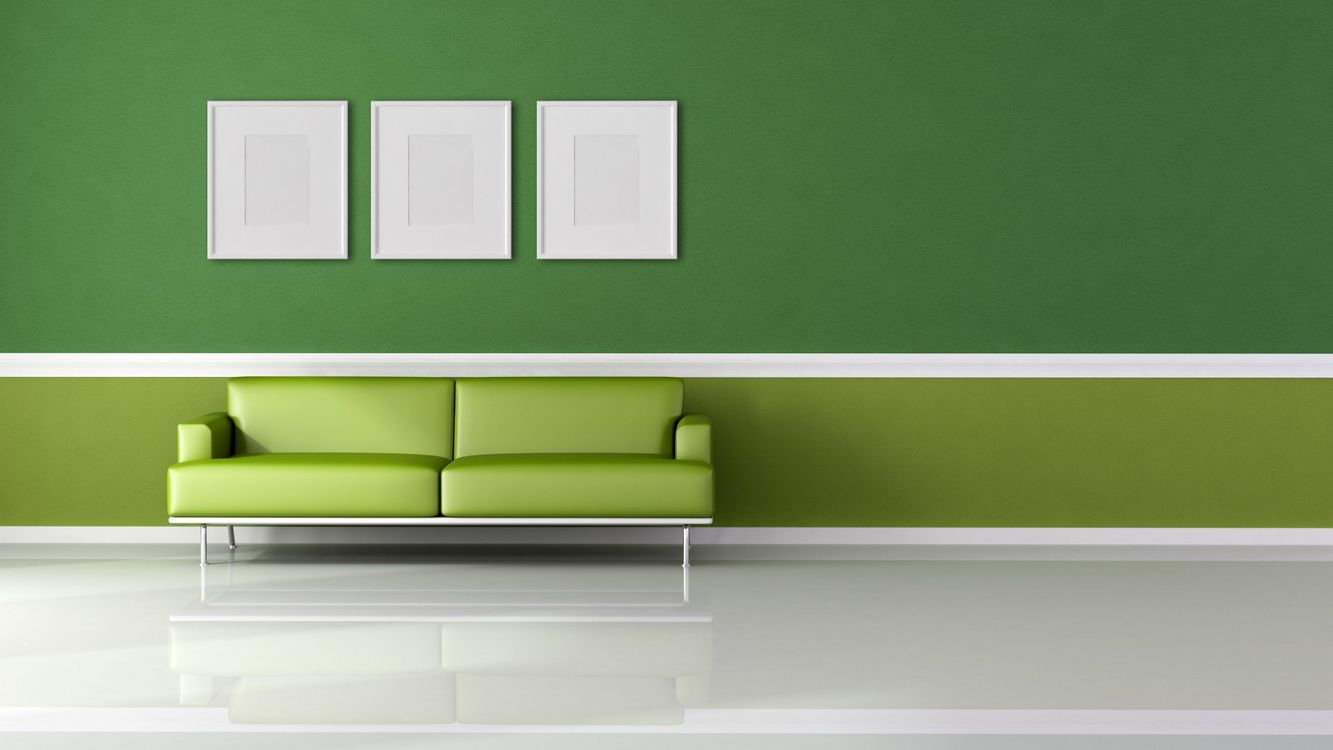 Free photo the green room, design, house - to desktop