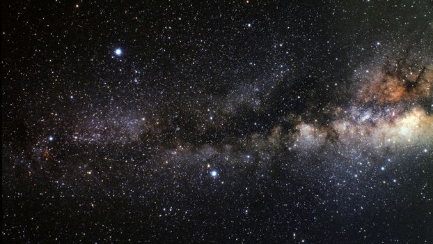 Milky way and star clusters · free photo