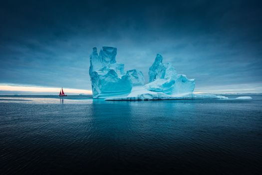 An iceberg in the Atlantic · free photo