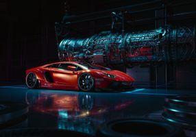 Фото бесплатно Lamborghini Aventador, lamborghini, behance