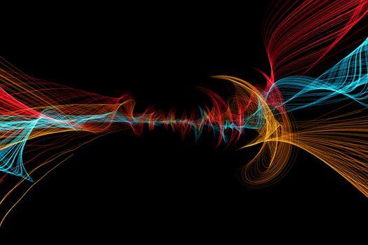 Разноцветные линии · бесплатное фото