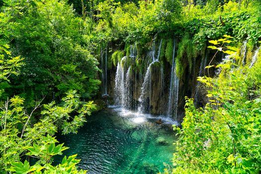 Скачать фото водопад, национальный парк плитвицкие озера