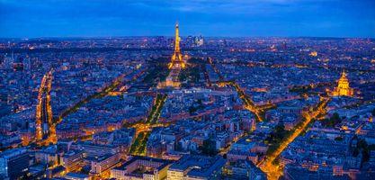 Заставки Париж,Франция,Paris,город,ночь,иллюминация,Эйфелева башня