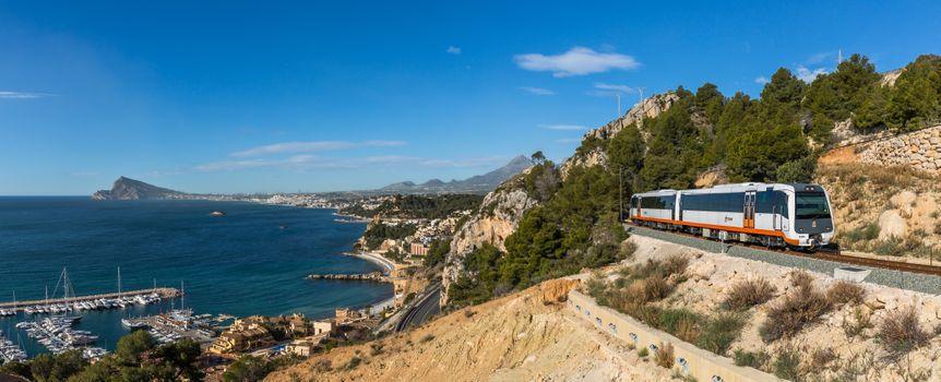 Фото бесплатно трамвай, Alicante Tram, seaside, Valencia, Spain, вид на старый город Аликанте