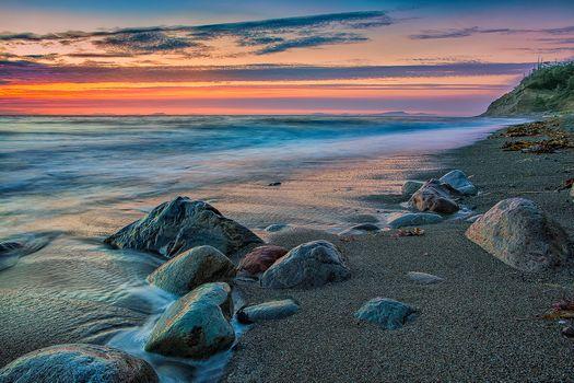 Фото бесплатно Государственный парк Форт Эбей, остров Уидби, Видны острова Сан-Хуан
