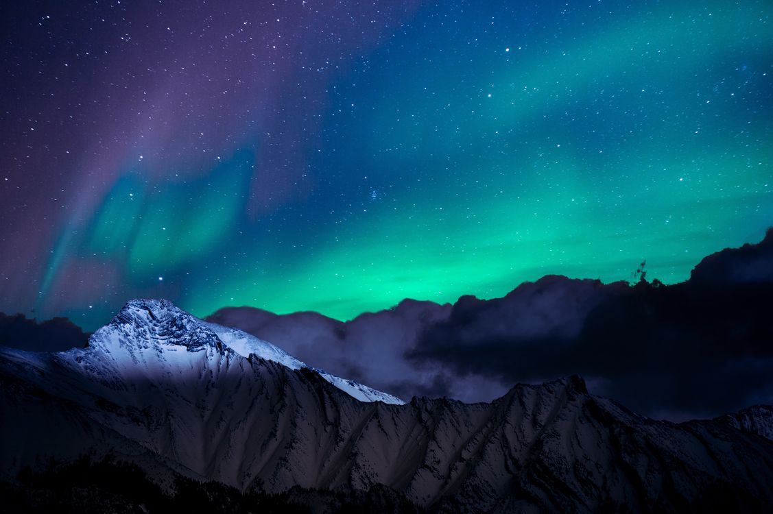 Фото бесплатно северное сияние, полярное сияние, природа - на рабочий стол