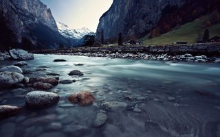 Photo free river, switzerland, stones